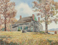 Mainstream Illustration, Andy N. Wyeth (b. 1948). Washington's Headquarters.Watercolor on paper. 19-1/2 x 25 inches (image). Initialed lowerlef...
