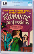 Golden Age (1938-1955):Romance, Romantic Confessions V2#9 (Hillman Publications, 1952) CGC VF/NM 9.0 Off-white to white pages....