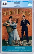 Golden Age (1938-1955):Romance, Secret Hearts #2 Canadian Edition (Simcoe Publishing, 1950) CGC VF8.0 Cream to off-white pages....