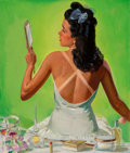Fine Art - Painting, American, Albert W. Hampson (American, 1911-1990). Tan Lines, The SaturdayEvening Post cover, September 27, 1941. Oil on canvas. ...(Total: 2 Items)