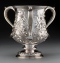 Silver Holloware, American:Loving Cup, A Large Gorham Silver Three-Handled Loving Cup, Providence, RhodeIsland, circa 1895. Marks: (lion-anchor-G), STERLING, 6 ...