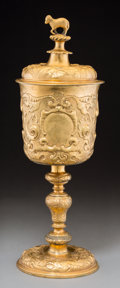 Silver & Vertu:Other Silver, An Elkington & Co. Gilt Copper Covered Standing Cup Electrotype Reproduction, Birmingham, England, circa 1875. Marks: (effac...
