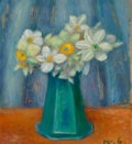 Fine Art - Painting, American, William James Glackens (American, 1870-1938). PaperNarcissus. Oil on canvas. 18 x 15 inches (45.7 x 38.1 cm).Initialed...