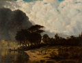 Paintings, Joseph Rusling Meeker (American 1827-1887). Lake Pontchartrain, Louisiana, 1880. Oil on canvas. 23 x 30 inches (58.4 x 7...
