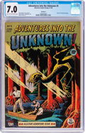 Golden Age (1938-1955):Horror, Adventures Into The Unknown #5 Northford Pedigee (ACG, 1949) CGC FN/VF 7.0 Light tan to off-white pages....