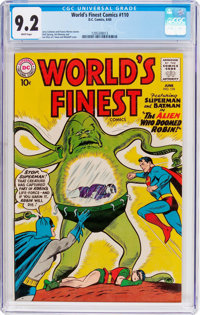 World's Finest Comics #110 (DC, 1960) CGC NM- 9.2 White pages