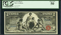 Large Size:Silver Certificates, Fr. 247 $2 1896 Silver Certificate PCGS About New 50.. ...