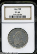 Early Half Dollars: , 1806 50C Pointed 6, Stem XF40 NGC. ...