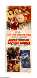 """Movie Posters:Swashbuckler, Adventures of Captain Fabian (Republic, 1951). Insert (14"""" X 36""""). Errol Flynn wrote and starred in this melodrama about mur... (1 )"""