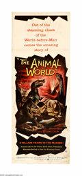 """Movie Posters:Documentary, The Animal World (Warner Brothers, 1956). Insert (14"""" X 36""""). A lost film from producer Irwin Allen, this semi-documentary l... (1 )"""