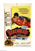 """Movie Posters:War, Beachhead (United Artists, 1954). One Sheet (27"""" X 41""""). TonyCurtis and Frank Lovejoy are part of a platoon of Marines who ...(1 )"""