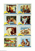 "Movie Posters:Adventure, Boy on a Dolphin (20th Century Fox, 1957). Lobby Card Set of 8 (11""X 14""). Sexy Greek sponge diver Phaedra (Sophia Loren) f... (8items)"