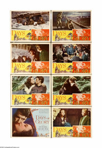 "Days of Glory (RKO, 1944). Lobby Card Set of 8 (11"" X 14""). Gregory Peck's first film was this story of Russia..."