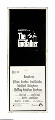 "The Godfather (Paramount, 1972). Insert (14"" X 36""). One of the greatest American films of all time, ""The..."