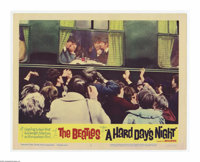 "A Hard Day's Night (United Artists, 1964). Lobby Card (11"" X 14""). In February 1964, after taking Great Britai..."