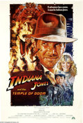 "Movie Posters:Adventure, Indiana Jones and the Temple of Doom (Paramount, 1984). One Sheet(27"" X 41""). This was director Steven Spielberg's second e... (1 )"