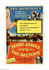 "Jesse James vs. the Daltons (Columbia, 1953). One Sheet (27"" X 41""). Even though Jesse James never shows up, q..."