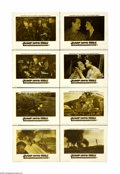 "Movie Posters:War, Jump Into Hell (Warner Brothers, 1955). Lobby Card Set of 8 (11"" X14""). The disastrous defeat at Dienbienphu in Vietnam tha... (8items)"