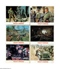 "Movie Posters:War, Kelly's Heroes (MGM, 1970). Lobby Cards (6) (11"" X 14""). ClintEastwood leads a ragtag group of American soldiers in WWII be... (6items)"