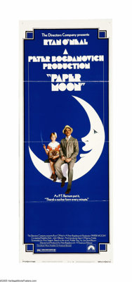 """Paper Moon (Paramount, 1973). Insert (14"""" X 36""""). Tatum O'Neal, still the youngest Oscar-winner ever, plays Ad..."""
