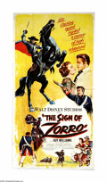 "Movie Posters:Adventure, The Sign of Zorro (Buena Vista, 1960). Three Sheet (41"" X 81"").Eight episodes of Disney's TV series starring Guy Williams a... (1)"