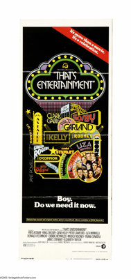 """That's Entertainment! (MGM, 1974). Insert (14"""" X 36""""). The first of the compilation films from MGM detailing t..."""