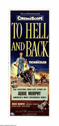 """Movie Posters:Adventure, To Hell and Back (Universal, 1955). Insert (14"""" X 36""""). AudieMurphy plays himself in the story taken from his autobiography...(1 )"""