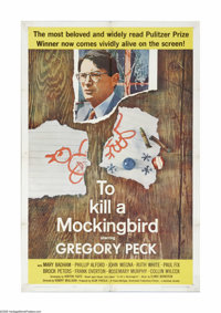 "To Kill a Mockingbird (Universal, 1963). One Sheet (27"" X 41""). Harper Lee's Pulitzer Prize-winning autobiogra..."