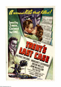 "Movie Posters:Mystery, Trent's Last Case (Republic, 1953). One Sheet (27"" X 41"").Inspector Trent (Michael Wilding) is called on to solve one last... (1 )"