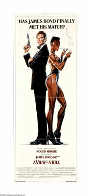 "A View to a Kill (MGM, 1985). Insert (14"" X 36""). Technology mogul Max Zorin (Christopher Walken) is trying to..."