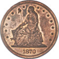 Patterns, 1870 $1 Dollar, Judd-1005, Pollock-1137, R.6, PR64 Red and Brown PCGS....