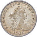 Early Half Dollars, 1806 50C 6 Over Inverted 6, O-112, T-12, R.4, XF40 PCGS. CAC....