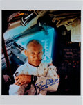Explorers:Space Exploration, Buzz Aldrin Signed Apollo 11 Mission Color Photo Originally from His Personal Collection....