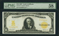 Large Size:Gold Certificates, Fr. 1172 $10 1907 Gold Certificate PMG Choice About Unc 58.. ...