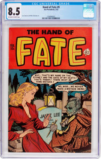 The Hand of Fate #9 (Ace, 1952) CGC VF+ 8.5 Off-white to white pages