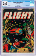 Golden Age (1938-1955):Science Fiction, Captain Flight Comics #11 (Four Star, 1947) CGC GD 2.0 Cream tooff-white pages....