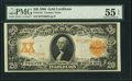 Large Size:Gold Certificates, Fr. 1181 $20 1906 Gold Certificate PMG About Uncirculated 55 EPQ.....
