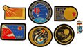 Explorers:Space Exploration, Sputnik: Collection of Six Rare Handmade Soviet Bullion Commemorative Patches from the Collection of Cosmonaut Georgy Grechko.... (Total: 6 Items)