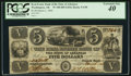 Obsoletes By State:Arkansas, Washington, AR- Real Estate Bank of the State of Arkansas $5 Mar. 1, 1840 G90 Rothert 680-1. ...