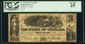 Obsoletes By State:Georgia, Milledgeville, GA- State of Georgia $3 Jan. 1, 1863 Cr. 10. ...