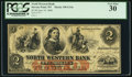 Obsoletes By State:Wisconsin, Stevens Point, WI- North Western Bank $2 June 10, 1860. ...