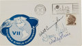 Explorers:Space Exploration, Apollo 7 Crew-Signed Launch Cover Directly from the Family Collection of Astronaut Richard Gordon....