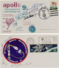 Explorers:Space Exploration, Apollo 9 Crew-Signed Launch Covers (Two) Directly from the Family Collection of Mission Back-up Command Module Pilot Richard G... (Total: 2 Items)