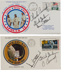 Explorers:Space Exploration, Apollo 12 Crew-Signed Launch and Splashdown Covers (Two) Directly from the Family Collection of Mission Command Module Pilot R... (Total: 2 Items)