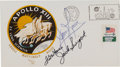 Explorers:Space Exploration, Apollo 13 Flight Crew-Signed Launch Cover Directly from the Family Collection of Astronaut Richard Gordon....