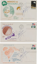 Explorers:Space Exploration, Apollo 13 Launch, Abort, and Splashdown Covers (Three) Signed by James Lovell, Directly from the Family Collection of Astronau...