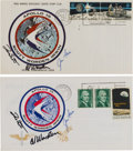 Explorers:Space Exploration, Apollo 15 Crew-Signed Launch and Return Covers (Two) Directly from the Family Collection of Mission Back-up Commander Richard ... (Total: 2 Items)