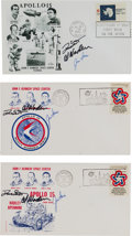 Explorers:Space Exploration, Apollo 15 Crew-Signed Launch Covers (Three) Directly from the Family Collection of Mission Back-up Commander Richard Gordo...
