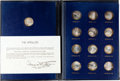 "Explorers:Space Exploration, ""The Apollos"" Set of Thirteen Franklin Mint Silver Medals for Apollo Missions 1 through 12, Directly from the Family Collectio..."