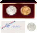 """Explorers:Space Exploration, """"America in Space"""" 1988 Limited Edition Silver and Bronze Proof Medals in Presentation Box, with Additional Non-Proof Example...."""